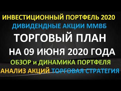 ТОРГОВЫЙ ПЛАН на 09 июня 2020 года - формируем инвестиционный портфель Акции ММВб Торговая стратегия