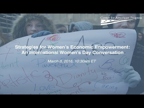 Strategies for Women's Economic Empowerment: An International Women's Day Conversation