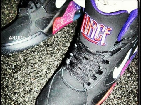 Nike Air Force 180 High Phoenix Suns Galaxy Sneaker Review With  DjDelz -  YouTube e02aa1fcf419