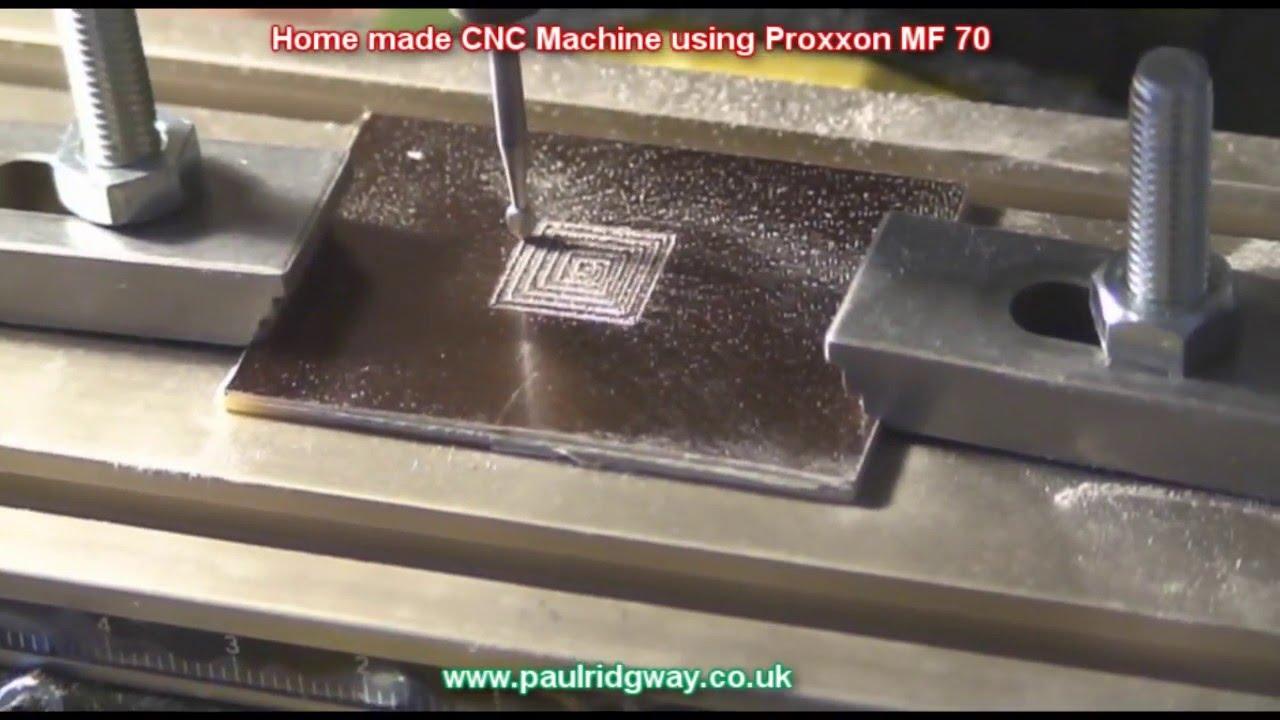 Home Made CNC Machine using Proxxon MF 70
