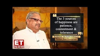 Rakesh Jhunjhunwala speaks on the three sources of happiness & reasons for market growth   EXCLUSIVE