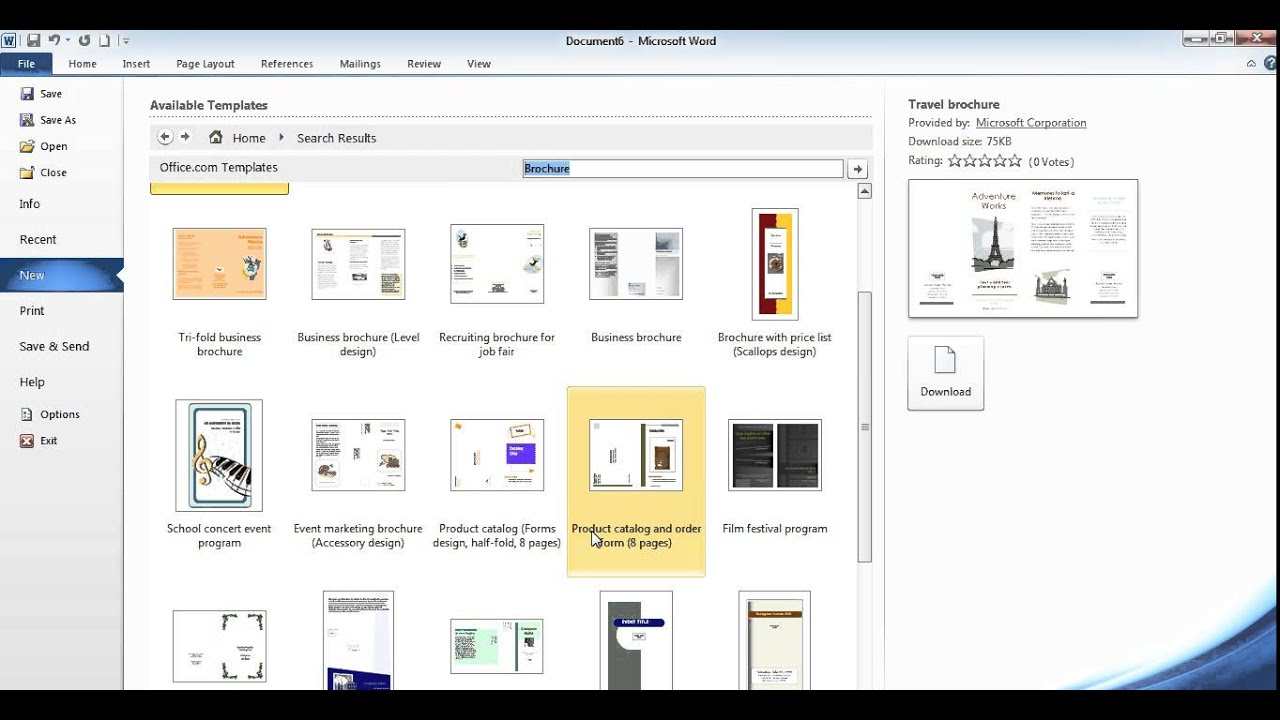 Cara Membuat Brosur Di Microsoft Word 2010 Youtube