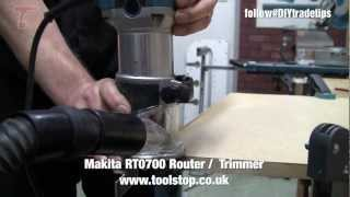 How To Cut A Groove - Makita Rt0700 Router Trimmer