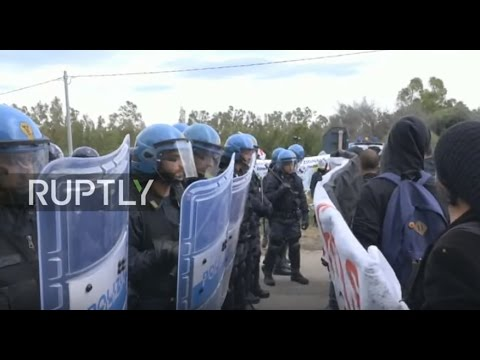 LIVE: Anti-war activists march against NATO base in Sardinia