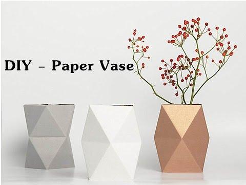 DIY - Origami Paper Vase | Dancing Vase