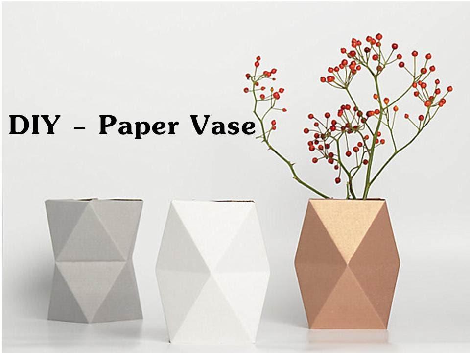 diy origami paper vase dancing vase youtube