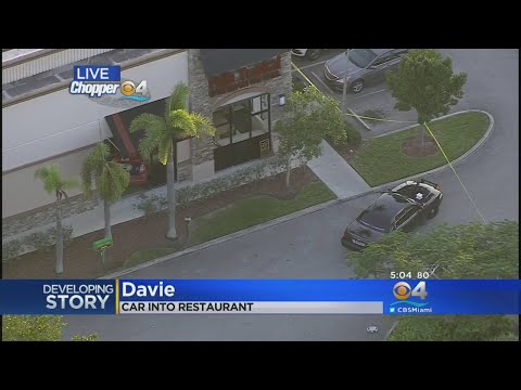 3 People Injured After Car Slams Into Davie Pollo Tropical