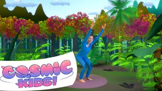 Tiny the T-Rex | A Cosmic Kids Yoga Adventure!