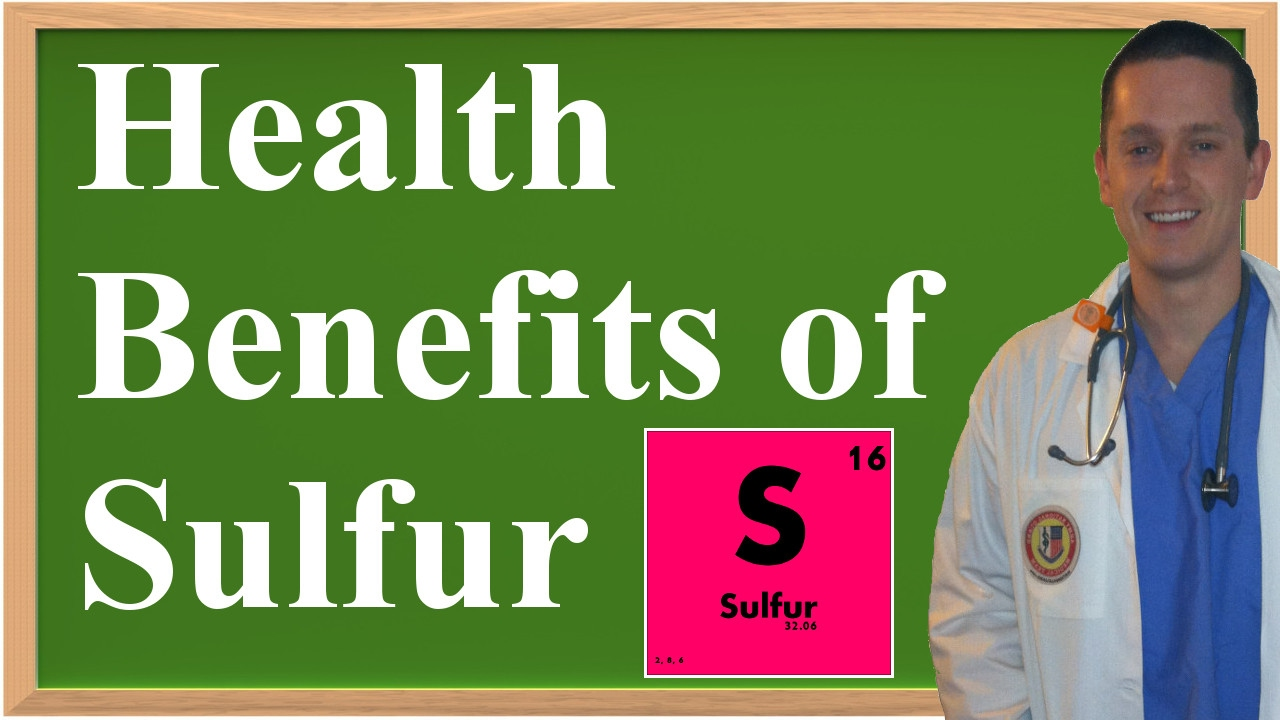 The Health Benefits of Sulfur - YouTube
