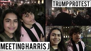 Video MEETING HARRIS J! TRUMP PROTEST LONDON | Vlog download MP3, 3GP, MP4, WEBM, AVI, FLV Februari 2018
