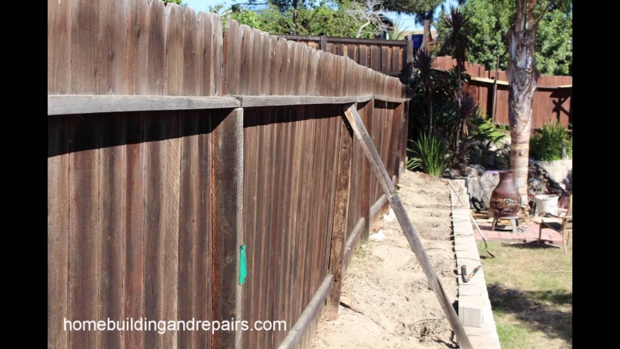 How I Fixed A Leaning Wood Fence Home Repair Slideshow