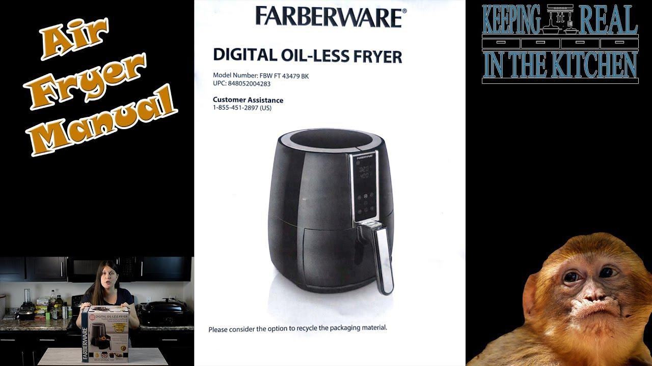 Farberware Digital Oil-Less Fryer Manual FBW FT 43479 BK