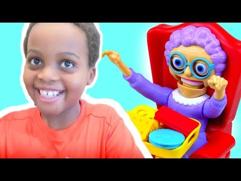 Thumbnail: GREEDY GRANNY GAME Toy Game Challenge Shasha and Shiloh - Onyx Kids