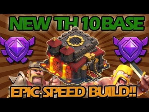 New Town Hall 10 Base + EPIC Speed Build!