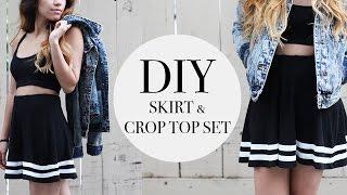 DIY TRANSFORMATION | crop top & skirt set