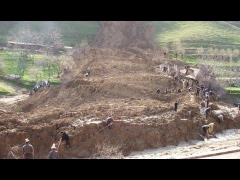 ОПОЛЗЕНЬ В АФГАНИСТАНЕ.LANDSLIDE IN AFGHANISTAN