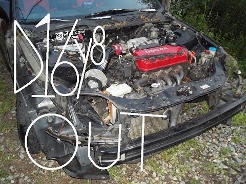 Honda D series engine removal