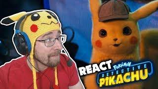 REACT do trailer do filme live action DETETIVE PIKACHU