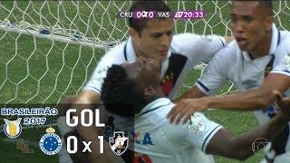 Gol - Cruzeiro 0 x 1 Vasco - Brasileirão 2017