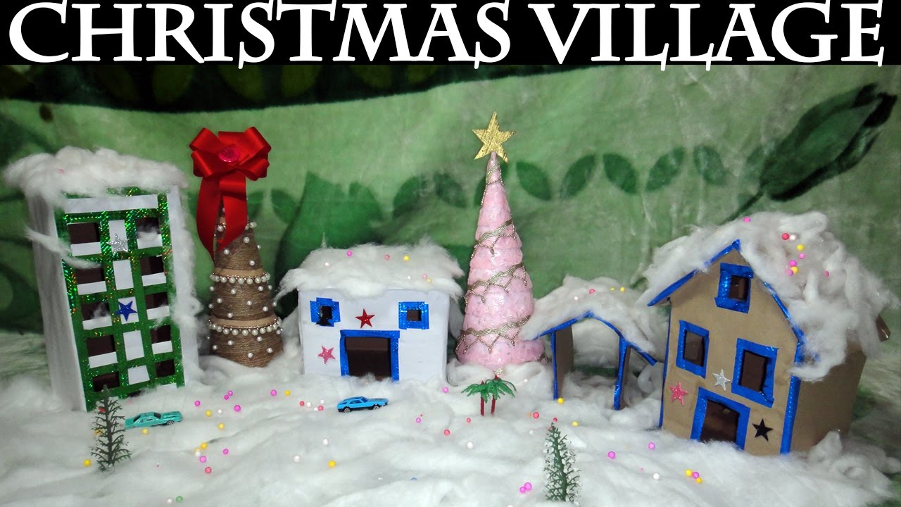 diy christmas decorations easy diy christmas village tutorial - Christmas Village Decorations