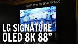 LG Signature OLED 8K 88 pollici: eccolo dal vivo a Milano