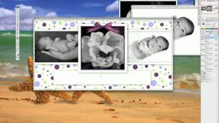 Digital Photography Tricks Using Photoshop Templates Baby Announcements Vol 2 by Katrina Brown