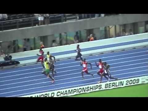 Usain Bolt 100m 9.58 world record (from within stadium)
