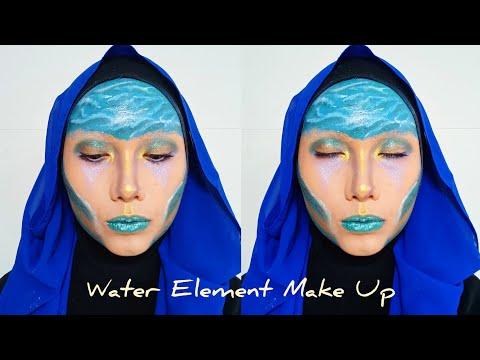 Water Element Make Up II Face Painting Indonesia II Rurie Nurul Fajri
