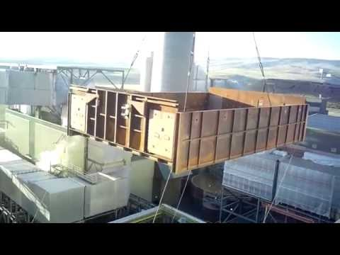 Special Raw Uncut Video, Flying 204,000 lbs into place