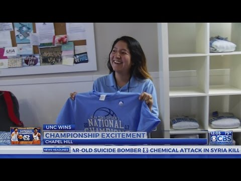 National championship gear flies of shevles in Chapel Hill
