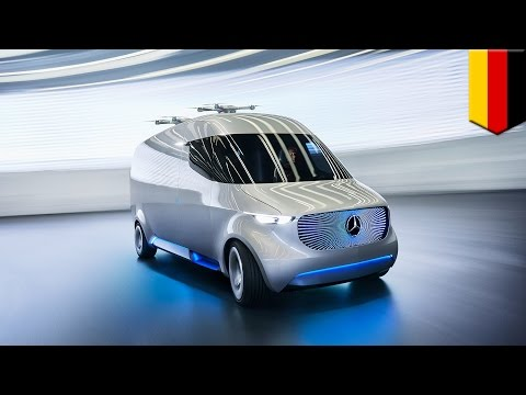 Vision van: Mercedes-Benz unveils drone delivery cargo van that is operated by robots - TomoNews