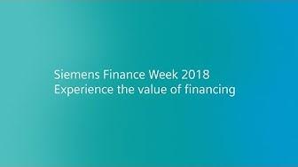 Siemens Finance Week 2018.  Experience the value of financing