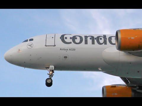 Condor Airlines Airbus A320 Landing at Corfu CFU