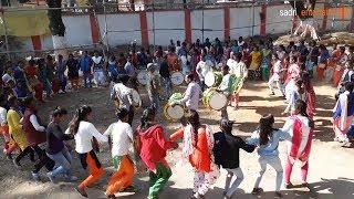 nagpuri video, chain dance, nagpuri song, nagpuri drum beat, adivasi hostel saraswati pooja, damkaj