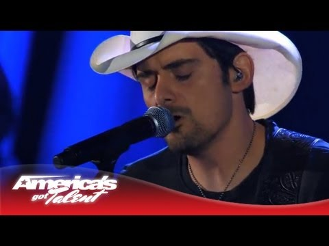 "Brad Paisley - ""I Can't Change the World"" Performance on AGT - America's Got Talent 2013"