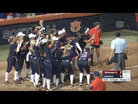 Auburn softball: Casey McCrackin tied it up. Carlee  Wallace walked it off