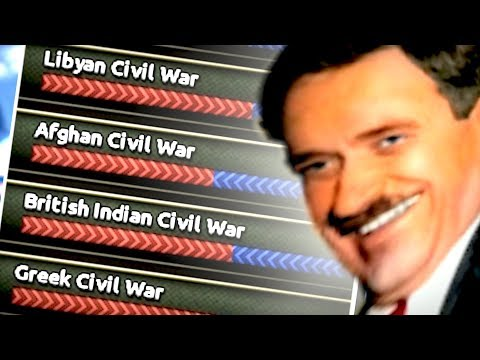 80 Civil Wars in 50 Different Nations | Hearts of Iron 4 (HOI4)