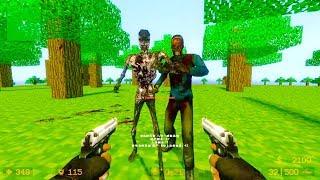 Counter Strike Source - Zombie Horde Mod Online Gameplay on Minecraft Village map