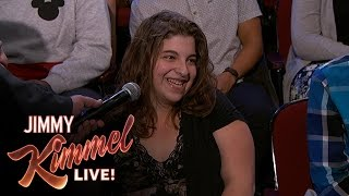 Behind the Scenes with Jimmy Kimmel & Audience (Classifieds Lady)