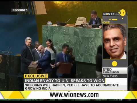 Exclusive: Indian Envoy to UN Syed Akbaruddin speaks to WION