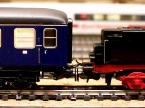 Modellbahnwagon´s entkuppeln mit Mini-Servo(mit Decoder) im Modellbahn-Wagon H0