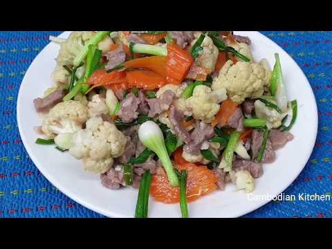 Fried Beef With Cauliflower And Carrot - Easy Cooking Delicious Lunch