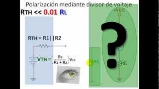 BJT Parte 07 Polarización por Divisor de Tensión de transistores