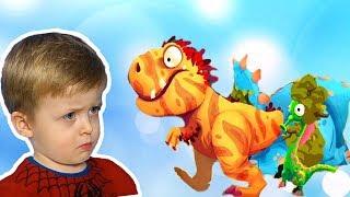 Игра про Динозавров для Детей Защищаем Яйцо от Траглодитов #6  Мультик про Динозавров Lion boy