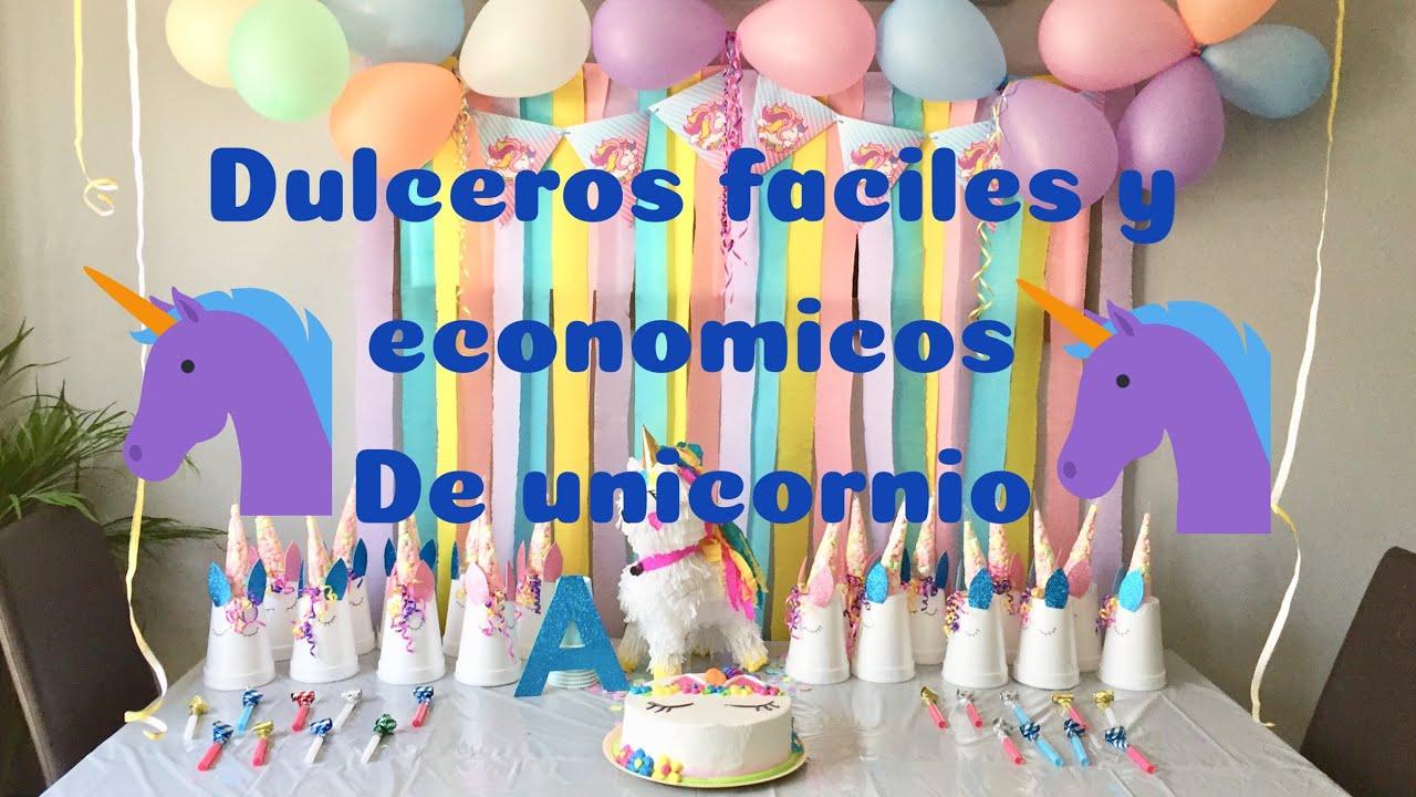 d761af62a 🦄DULCEROS DE UNICORNIO🦄 FÁCILES Y ECONÓMICOS - YouTube