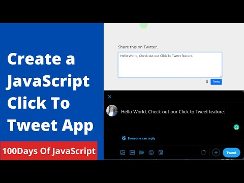 How To Create A Click To Tweet App With Javascript