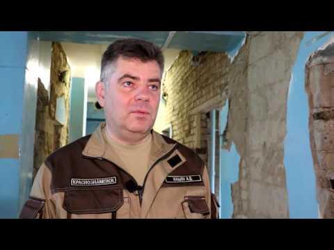 Глава Краснознаменска проверил ход ремонтных работ в центре-реабилитации