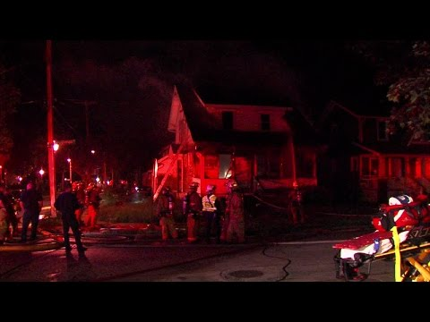 2 firefighters fall through floor, escape injury