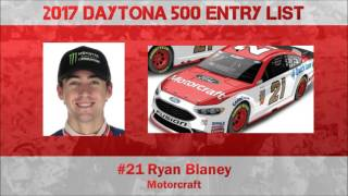 2017 Daytona 500 Entry List [Projected]
