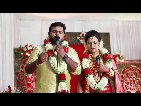 Aadyamayi kandanaal -Special cover sung by us on our Wedding Day
